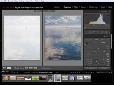Developing a Photo in Lightroom - Before and After