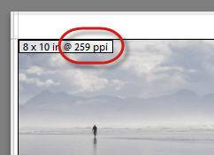 print resolution ppi show in lightroom