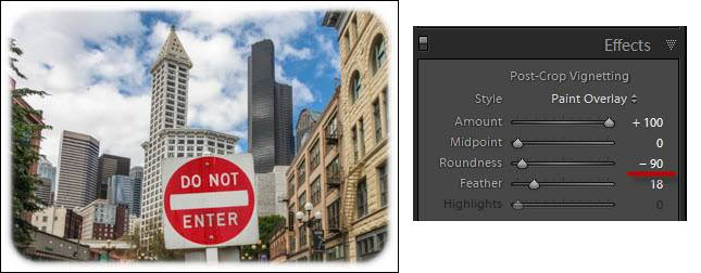 Lightroom Soft-Edged Border