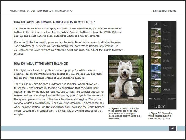 Lightroom mobile missing faq sample page