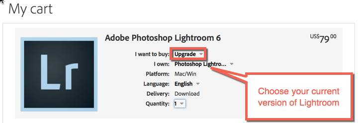 How to Purchase Lightroom 6 Upgrade