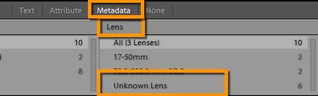 Lightroom 6.5 CC 2015.5 Unknown Lens