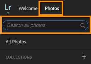 Lightroom Web Search feature