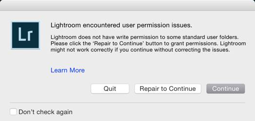 Lightroom-permissions-repair-issue
