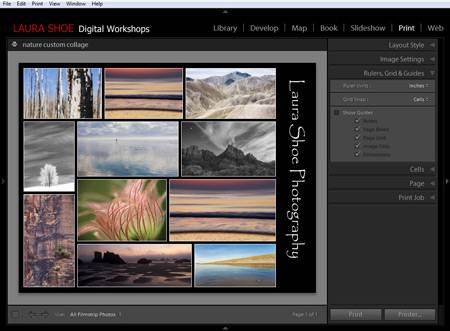 Creating a photo collage in Lightroom's Print module