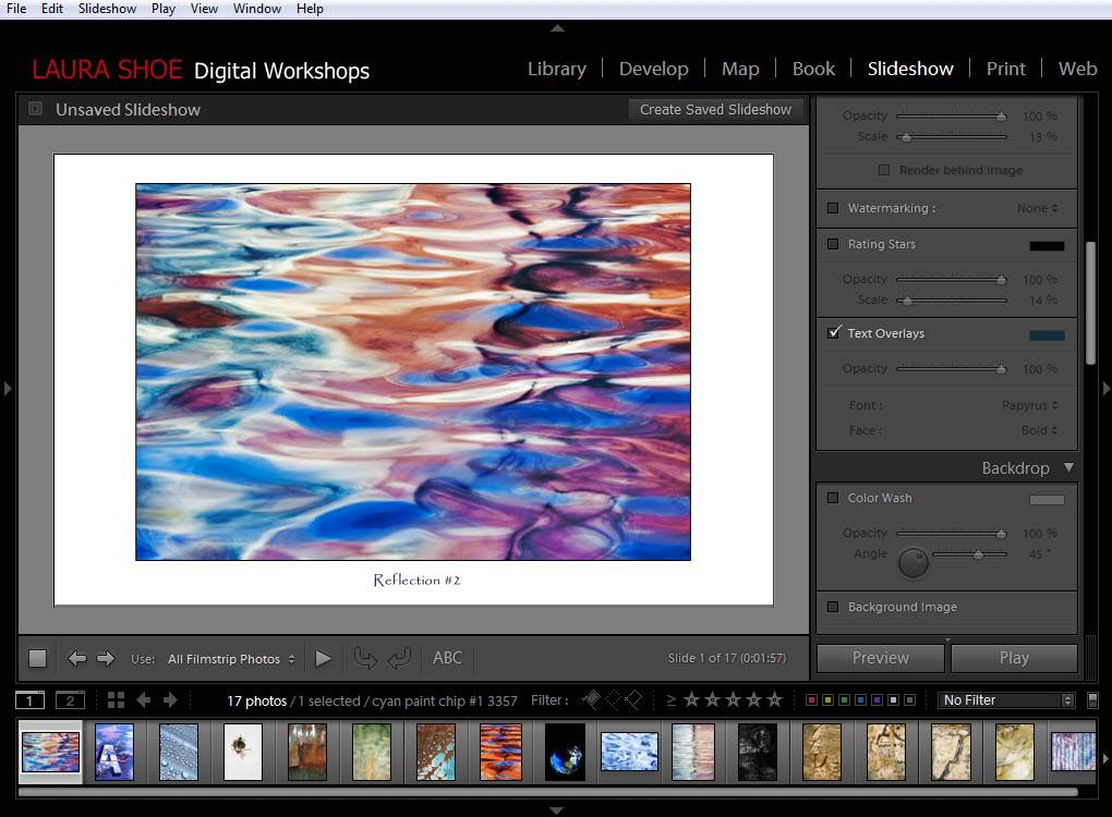 Lightroom Slideshow Module