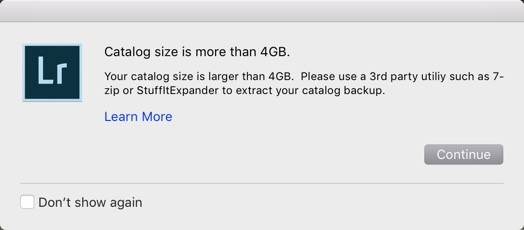 Your Lightroom Catalog Size is Larger than 4 GB