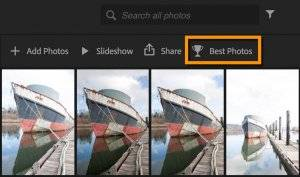 Lightroom Web Best Photos Feature