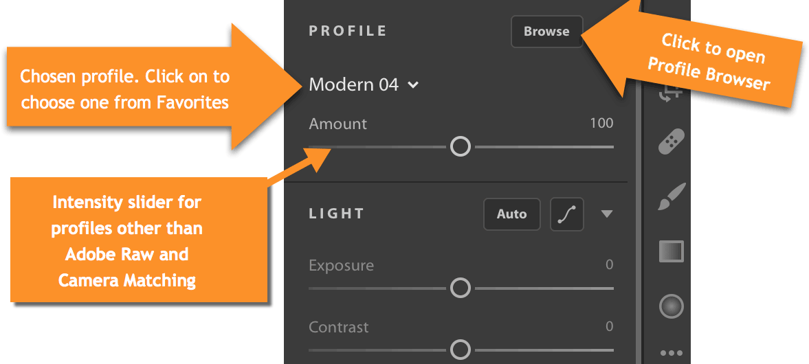 How to Access Profiles in Lightroom CC