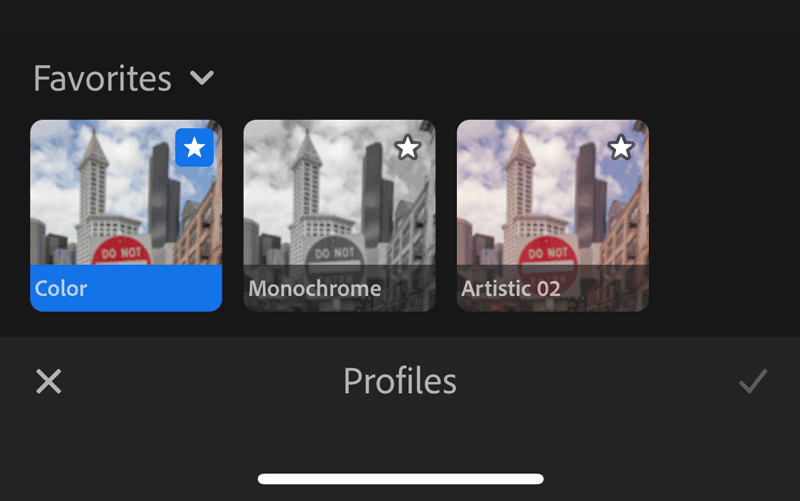 Use Profiles in Lightroom CC mobile for iOS and Android