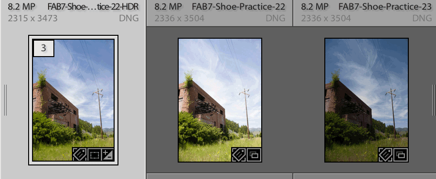LR Classic: stack panorama and HDR merge files