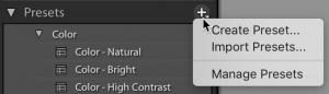 Open Lightroom Classic's Preset Manager to Hide Presets