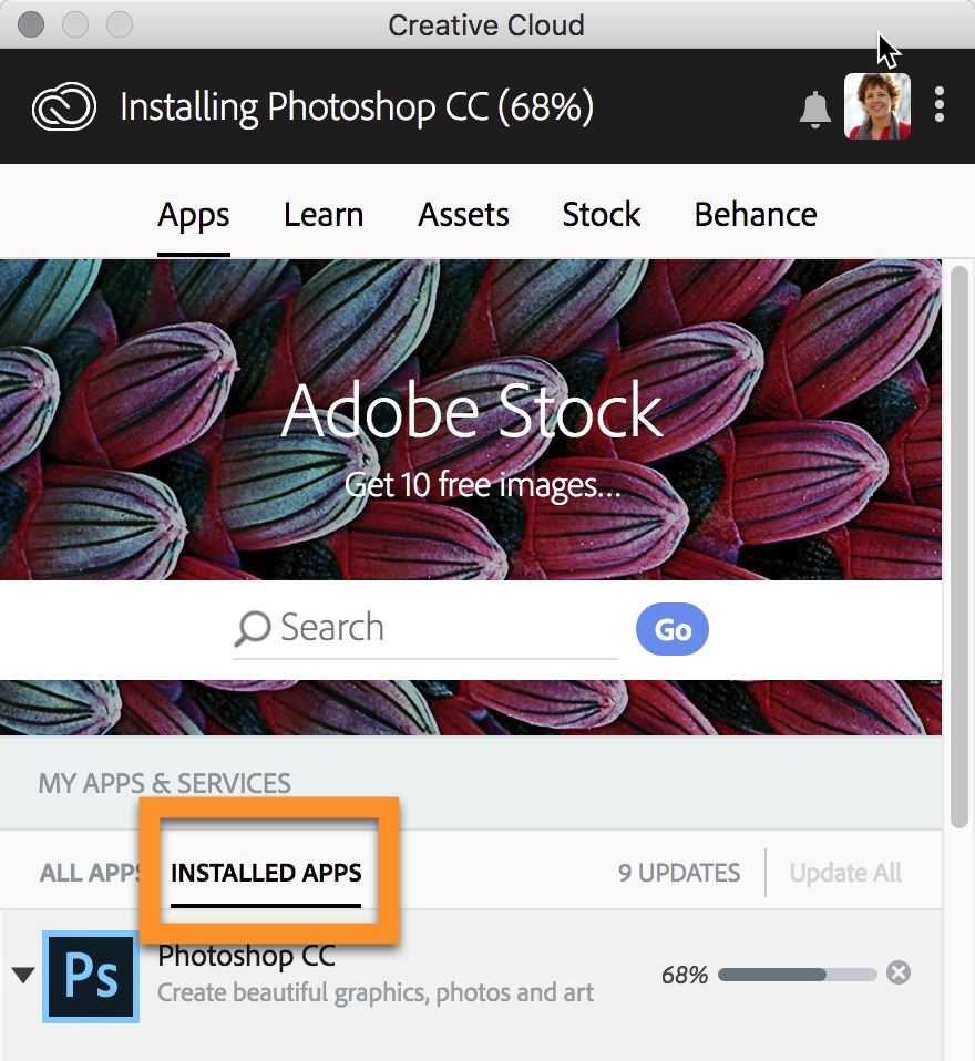 Display Only Installed Creative Cloud Apps