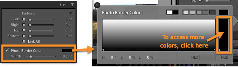 How to add a photo border in Lightroom Classic's Book Module