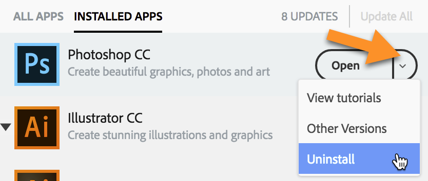 How to Uninstall Creative Cloud Applications