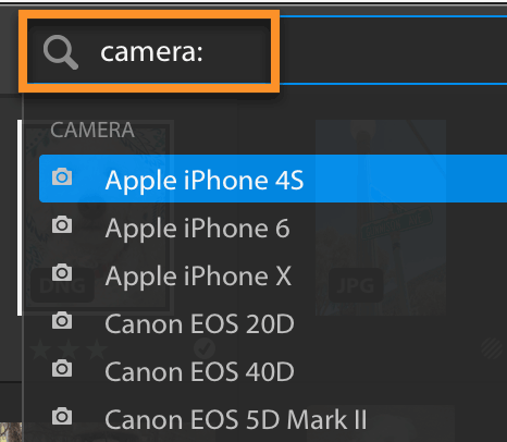 Lightroom CC Facet Search