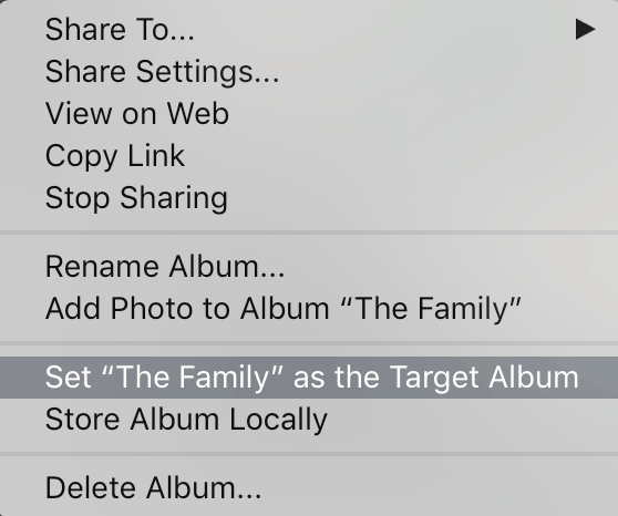 Save Time with Target Albums / Collections in Lightroom CC