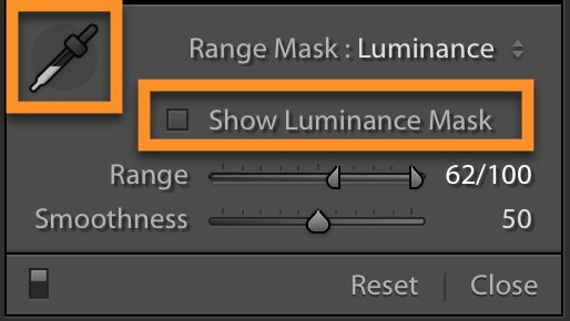 Lightroom Classic Luminance Range Mask Improvements