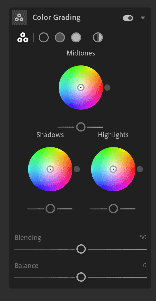 Cloud-Based Lightroom Color Grading Panel